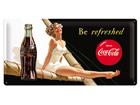 Металлический постер в ретро-стиле Coca-Cola Be Refreshed 25x50cm SG-73504