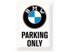 Металлический постер в ретро-стиле BMW Parking only 30x40cm SG-74245