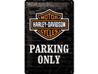 Металлический постер в ретро-стиле Harley-Davidson Parking only 20x30cm SG-74246