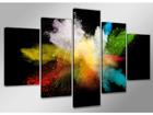 Картина из 5-частей Краски 200x100 см ED-75057