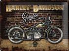 Металлический постер в ретро-стиле Harley-Davidson Genuine 30x40cm SG-78395