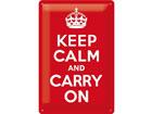Металлический постер в ретро-стиле Keep calm and carry on 20x30cm SG-78400