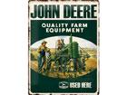 Металлический постер в ретро-стиле John Deere Quality Farm Equipment 30x40cm SG-78432