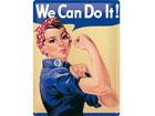 Металлический постер в ретро-стиле We can do it! 15x20cm SG-78918