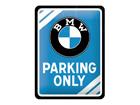 Металлический постер в ретро-стиле BMW Parking Only 15x20 cm SG-80660