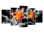 Картина из 5-частей Цветок огня 200x100 см ED-80905