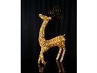 Золотистый олень с LED лампочками AA-84262