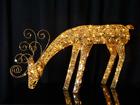 Золотистый олень с LED лампочками AA-84263