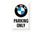 Металлический постер в ретро-стиле BMW Parking only 20x30 cm SG-84339