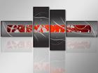Картина написана маслом из 4-частей Дыхание 195x80 см ED-86565