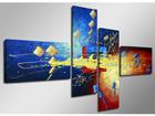 Картина из 4-частей Optik 160x70 см