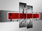 Картина из 4-частей Punane sein 160x70 см ED-86587