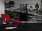Фотообои Brooklyn Bridge black and white 360x254 см ED-88077