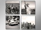 Картина из 4-частей New York USA 4x30x30 см ED-88895