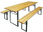 Складная садовая мебель, стол 50x220 см + 2 скамьи