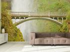 Флизелиновые фотообои Bridge near waterfall 360x270 см ED-90596
