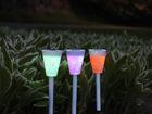 Комплект садовых светильников с солнечной панелью меняющие цвет 3 шт AA-90652