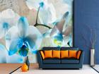 Флизелиновые фотообои Blue flowers 360x270 см ED-90692