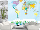 Флизелиновые фотообои World map 360x270 см ED-90722