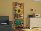Флизелиновые фотообои Sunflower with bricks 90x202 см ED-91119
