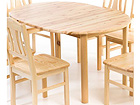 Удлиняющийся обеденный стол 100x100-140 cm EC-95431