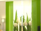 Полузатемняющая панельная штора White Tulips 240x240 см ED-97504