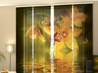 Затемняющая панельная штора Nephrite Orchids 240x240 см ED-97577