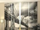 Полузатемняющая панельная штора Black and White bridge 240x240 cm ED-97714