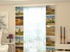 Полузатемняющая панельная штора Paris Kollage 80x240 cm