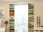 Затемняющая панельная штора Paris Kollage 80x240 cm