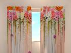 Полузатемняющая штора Flower lambrequins pink spring 240x220 см ED-97934