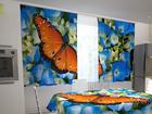 Просвечивающая штора Butterfly on the blue 200x120 см ED-98321