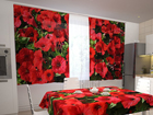 Просвечивающая штора Red petunias 200x120 см ED-98331