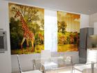 Полузатемняющая штора Giraffes in the kitchen 200x120 см ED-98445