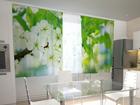 Просвечивающая штора Spring flowers for the kitchen 200x120 см ED-98451