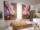 Просвечивающая штора Orchids and tree in the kitchen 200x120 см ED-98483