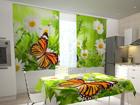 Полузатемняющая штора Butterfly and camomiles 200x120 см ED-98510