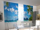 Просвечивающая штора Beach behind the window 200x120 см ED-98546