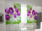 Полузатемняющая штора Lilac tulips in the kitchen 200x120 см ED-98578