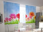 Просвечивающая штора Bright gerberas in the kitchen 200x120 см ED-98580
