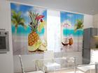 Полузатемняющая штора Hawaii in the kitchen 200x120 см ED-98586