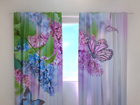 Полузатемняющая штора Lilac and butterflies 240x220 см ED-99344