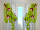 Затемняющая штора Lime coloured orchid 240x220 см ED-99368