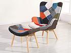 Кресло с пуфом Marvin AQ-99611