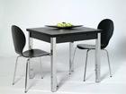 Удлиняющийся обеденный стол 80x80-147 cm, чёрный AY-99735