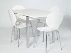 Удлиняющийся обеденный стол 80x80-147 cm, белый AY-99736