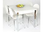Удлиняющийся обеденный стол 80x120-187 cm, белый AY-99739