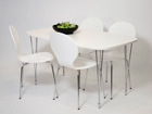 Обеденный стол 138x80 cm, белый AY-99747