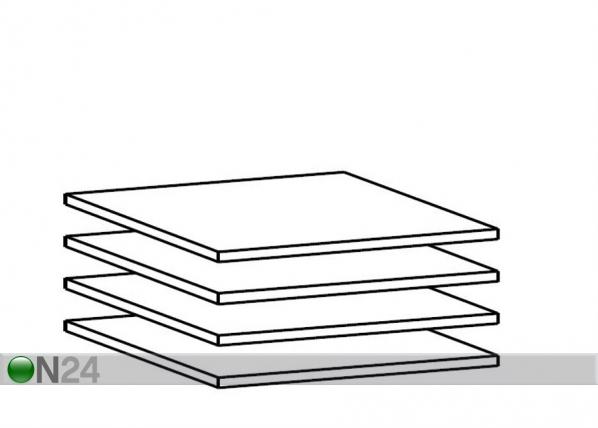 Дополнительные полки для 50 см шкафа, 4 шт AY-101796