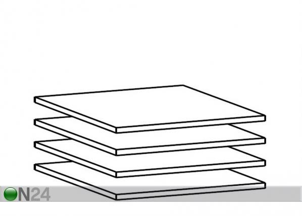 Дополнительные полки для 60 см шкафа, 4 шт AY-101815
